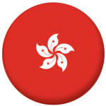 Hong Kong Country Flag 25mm Flat Back